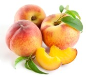 10613204-ripe-peach-fruit-with-leaves-and-slises-on-white-background